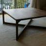 square top low table / Walnut