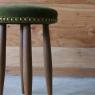 straw stool / velvet