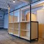 cabinet / ガラスパ―テ-ション付き収納庫