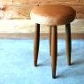 straw stool / Leather