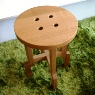 button stool / wood