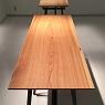 table / 吉野杉一枚板×アイアンフレ-ムのテ-ブル