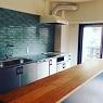 kitchen work table / 無垢天板のキッチン作業台