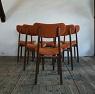 order dining chair / レザ-とウオルナットのダイニングチェア